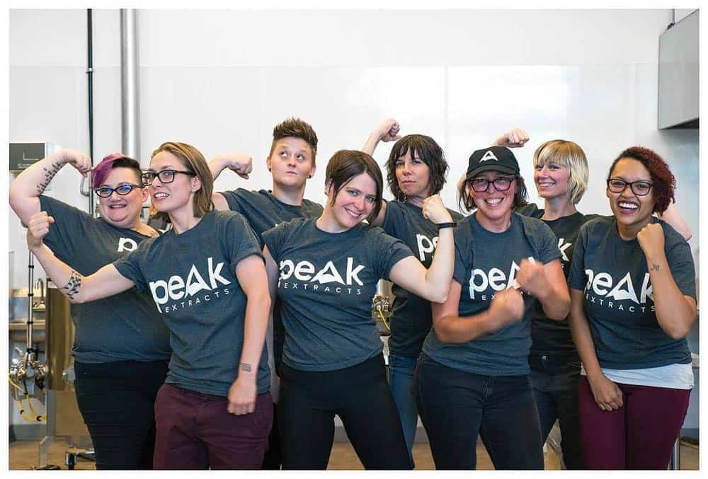 The staff at Peak Extracts