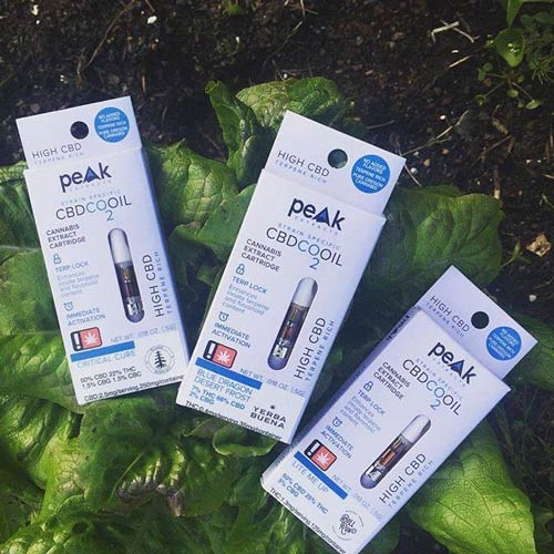 Peak Extracts CBD oil cartridges