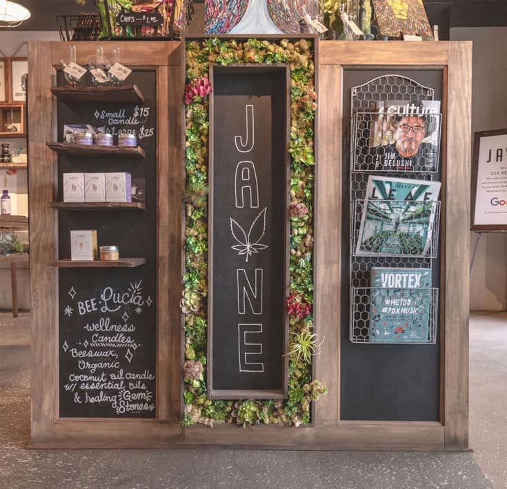 Cannabis Dispensary In-Store Display